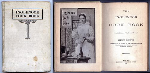 Inglenook Cook Book 12th ed, 1908