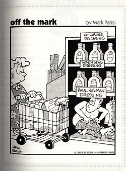 Newman's Own Salad Dressing Cartoon from Shameless Exploitation