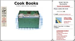 home page of cookbookjjdotcom