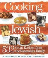 front cover of of Judy Bart Kancigor's cookbook, Cooking Jewish